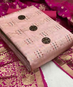 Banarsi Mina Chex Non Catalog Dress Materials Wholesale Online