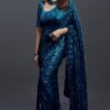 Embroidery Sequence Work Saree 08