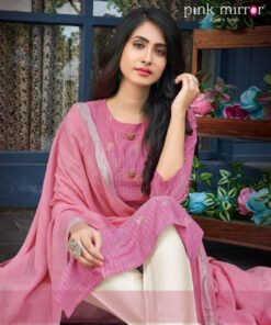 Pink Mirror Mint Ladies Readymade Suit