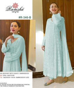 RAMSHA..PRESENT R-346 NX Pakistani Lawn Suits Wholesale In India