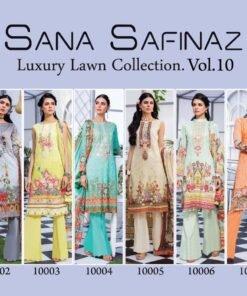 Sana Safinaz Luxury Lawn Collection Vol-10 Wholesale Catalogue
