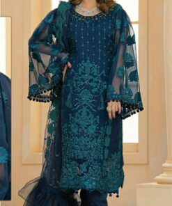 Butterfly Net with Heavy Embroidery Pakistani Suits 02