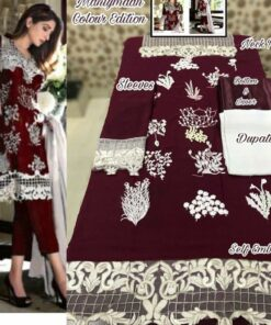 Faux Georgette with Heavy Embroidery Pakistani Suits 02