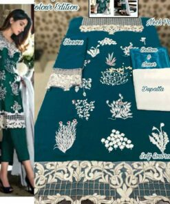 Faux Georgette with Heavy Embroidery Pakistani Suits 03